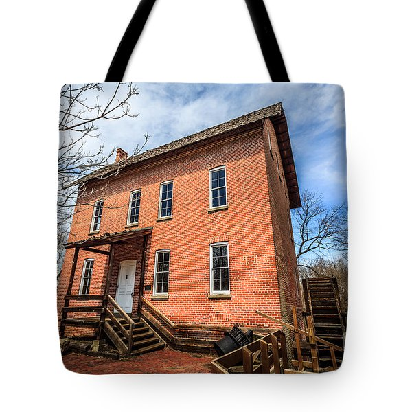 Grist Mill In Northwest Indiana Tote Bag by Paul Velgos