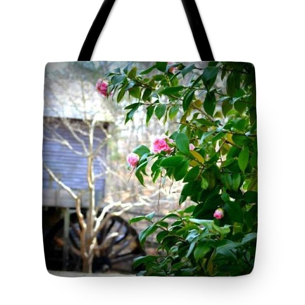 Tote Bag featuring the photograph Grist Mill Roses by Tara Potts