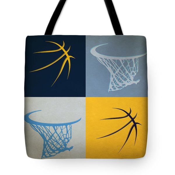 Grizzlies Ball And Hoop Tote Bag