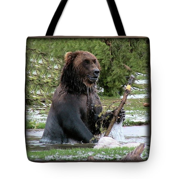 Grizzly Bear 08 Tote Bag by Thomas Woolworth