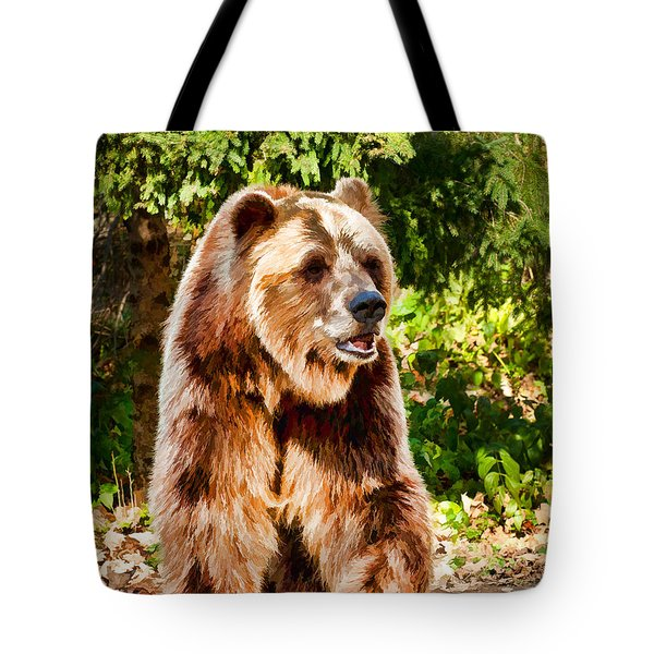Grizzly Bear - Painterly Tote Bag