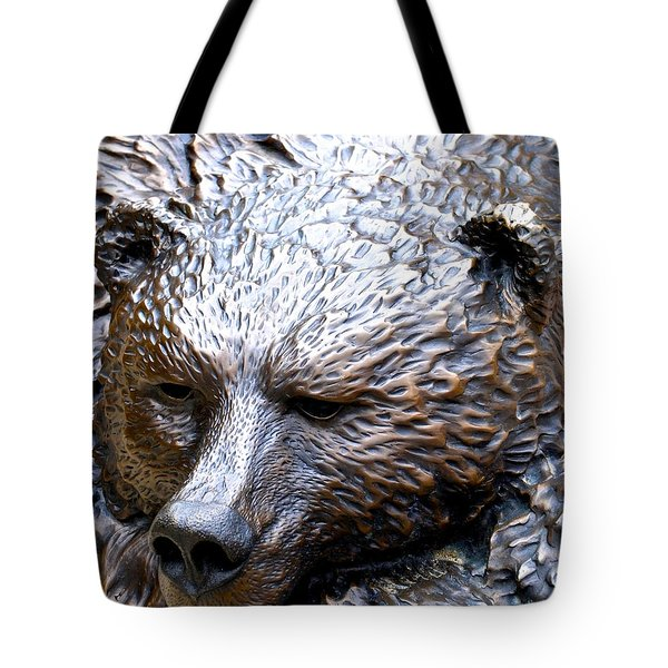 Grizzly Tote Bag by Charlie and Norma Brock