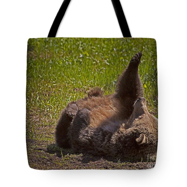 Tote Bag featuring the photograph Grizzly by J L Woody Wooden