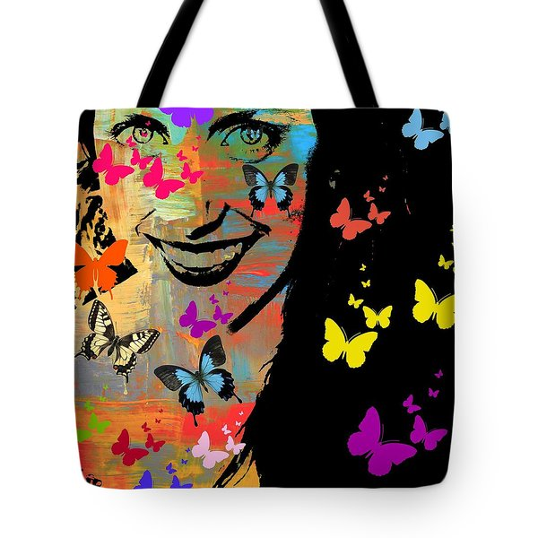 Groovy Butterfly Gal Tote Bag