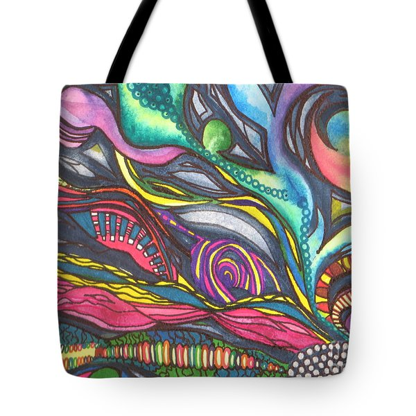 Groovy Series Titled Thoughts Tote Bag by Chrisann Ellis
