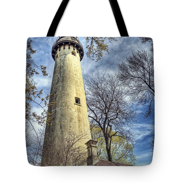 Grosse Point Lighthouse Color Tote Bag