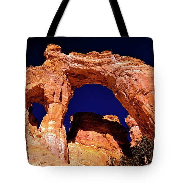 Grosvenor Arch Sunset Kodachrome Basin Tote Bag by Ed  Riche