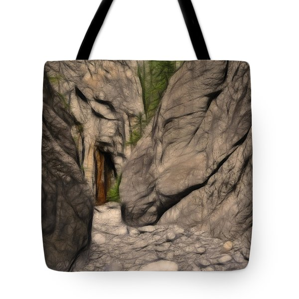 Grotto Canyon Fractal Tote Bag