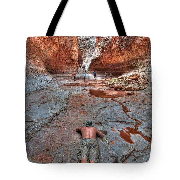 Grotto Stretch Tote Bag