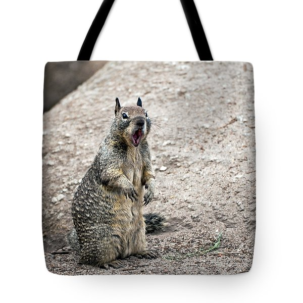 Ground Squirrel Raising A Ruckus Tote Bag