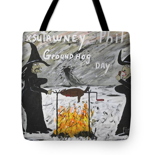 Groundhog Day Tote Bag by Jeffrey Koss