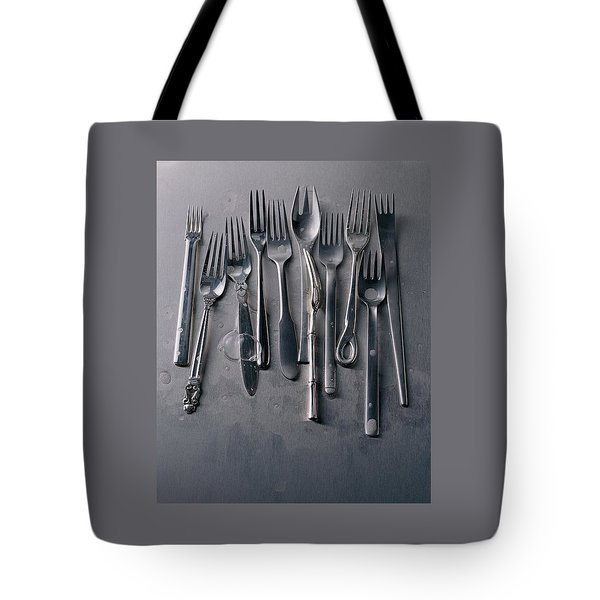 Group Of Clean Forks Tote Bag