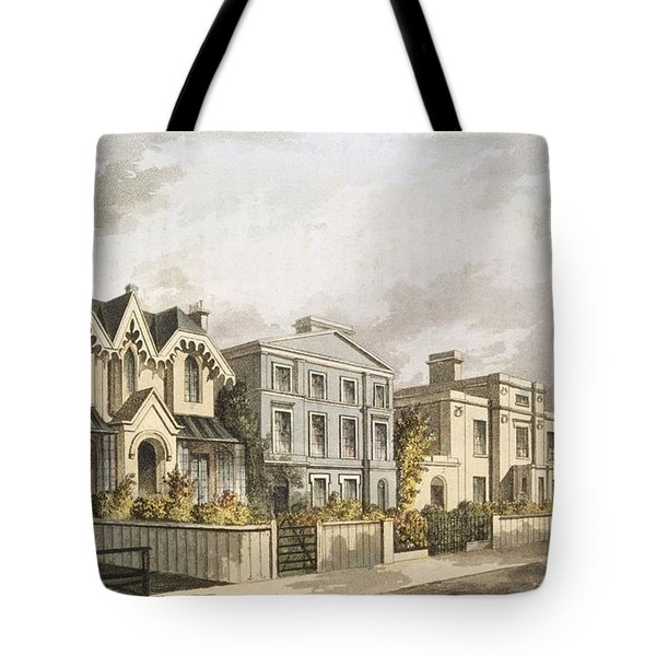 Group Of Villas In Herne Hill Tote Bag by English School