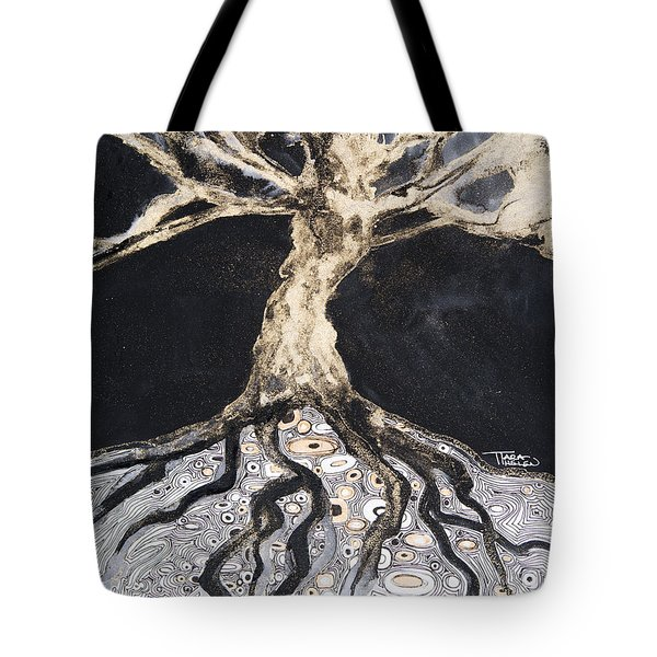 Growing Roots Tote Bag by Tara Thelen