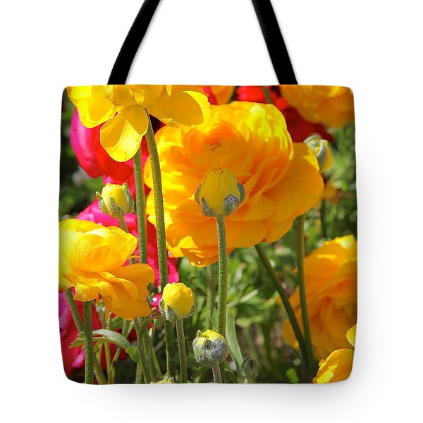 Growth Of A Ranunculus Tote Bag