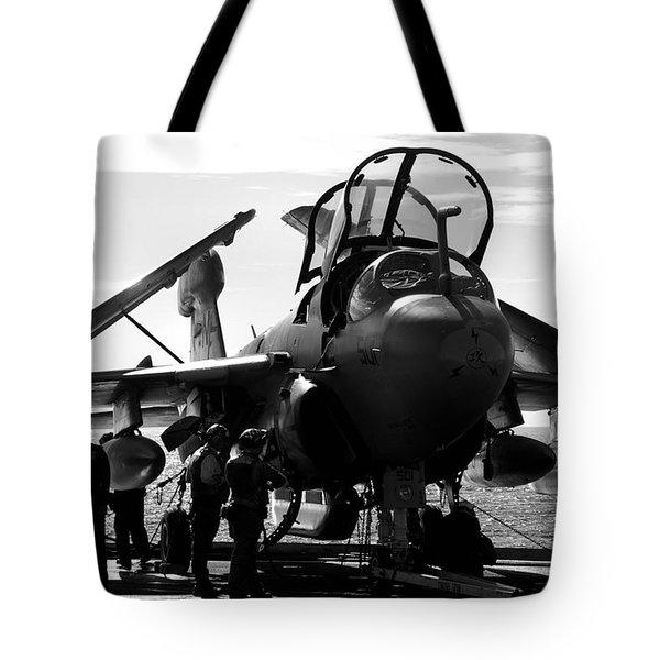 Grumman Ea-6b Prowler B-w Tote Bag
