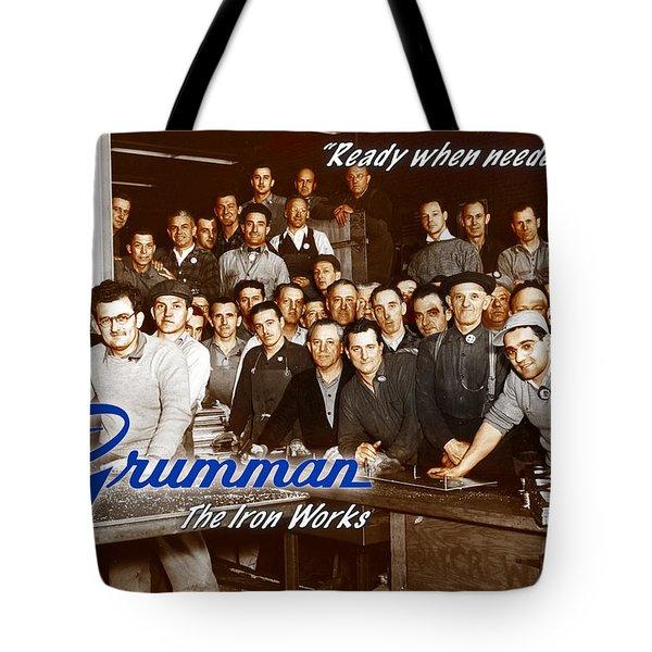 Grumman Iron Works Shop Workers Tote Bag