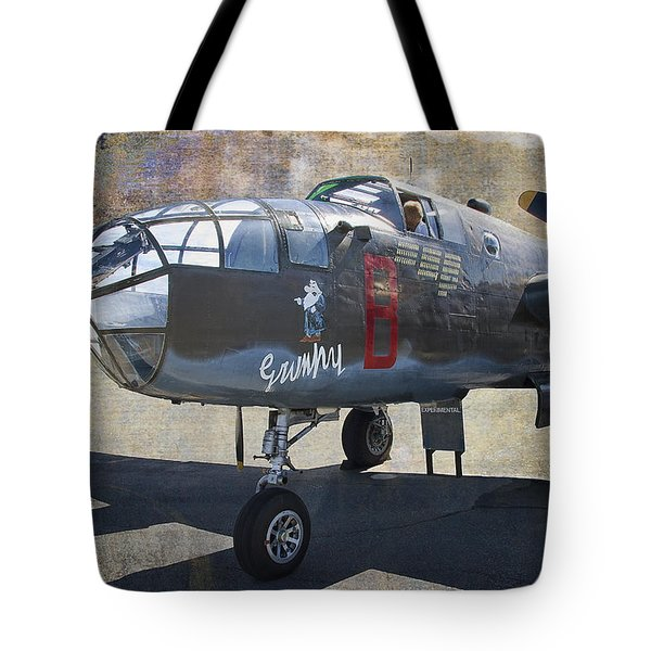 Grumpy  B-25 D Mitchell Bomber  /  43-3318 Tote Bag by Daniel Hagerman