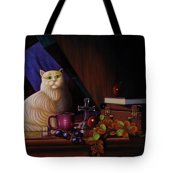 Grumpy Cat Tote Bag by Gene Gregory