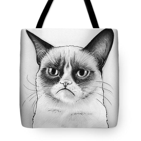Grumpy Cat Portrait Tote Bag