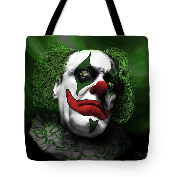 Tote Bag featuring the digital art Grumpy Green Meanie by Jeremy Martinson