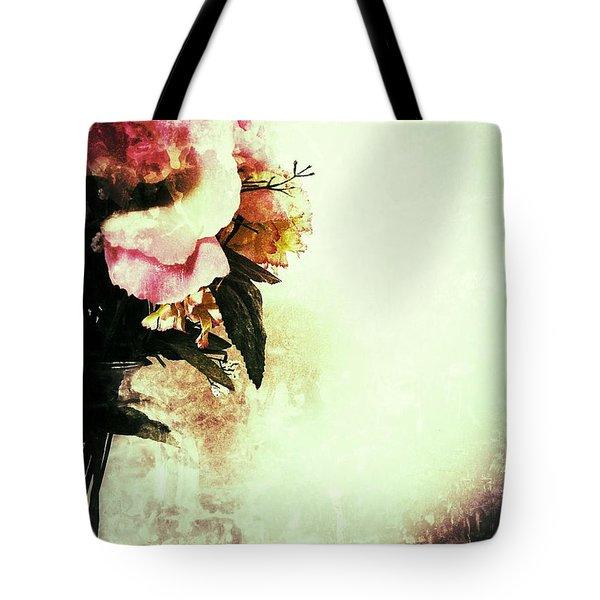Grunge Flowers Tote Bag