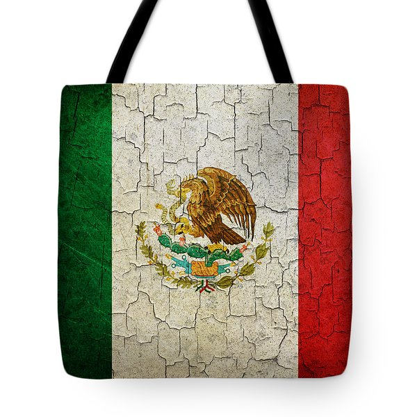 Grunge Mexico Flag Tote Bag