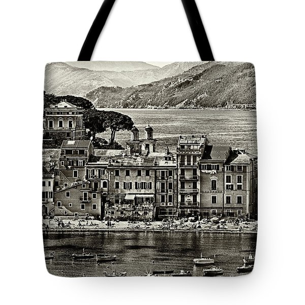 Grunge Seascape Tote Bag