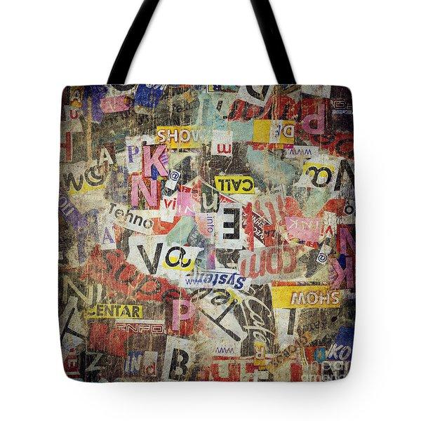 Grunge Textured Background Tote Bag