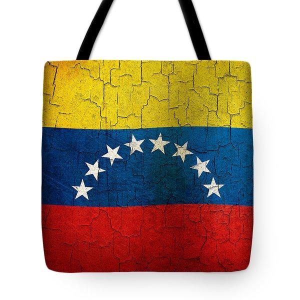 Grunge Venezuela Flag Tote Bag