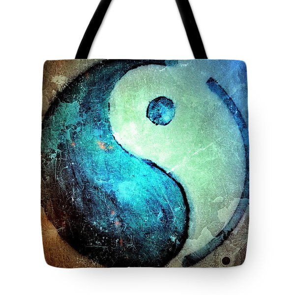 Grunge Yin Yang Water Is Precious Tote Bag by Danielle  Parent