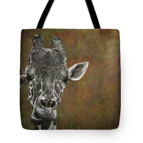 Grungy Giraffe 5654 Brown Tote Bag