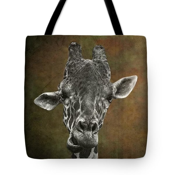 Grungy Giraffe 5654 Brown Tote Bag