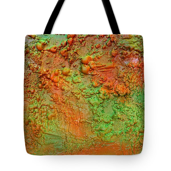 Orange Abstract New Media  Tote Bag