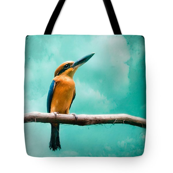 Guam Kingfisher - Exotic Birds Tote Bag