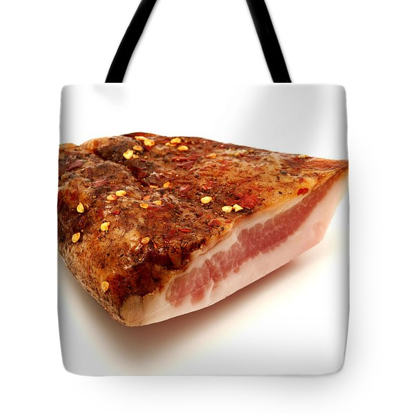 Tote Bag featuring the photograph Guanciale by Fabrizio Troiani