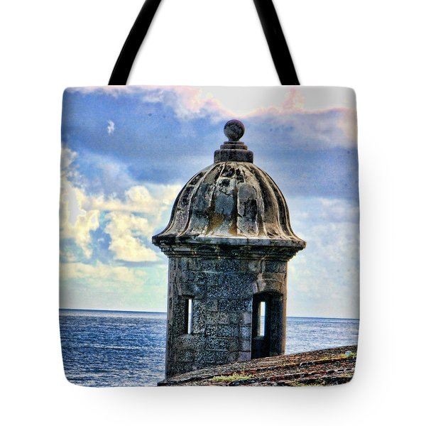 Guard Tower At El Morro Tote Bag by Daniel Sheldon