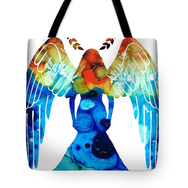 Guardian Angel - Spiritual Art Painting Tote Bag by Sharon Cummings