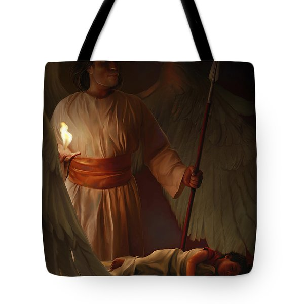 Guardian Angel Tote Bag by Tamer and Cindy Elsharouni