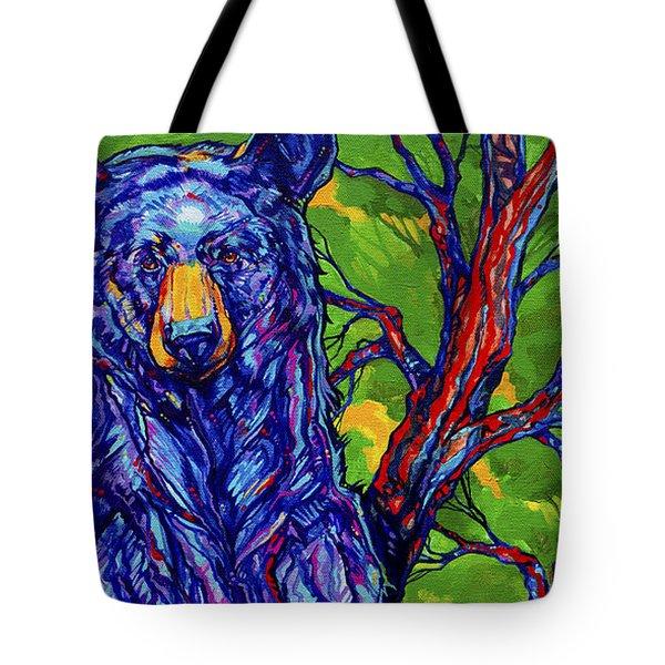 Guardian Bear Tote Bag by Derrick Higgins