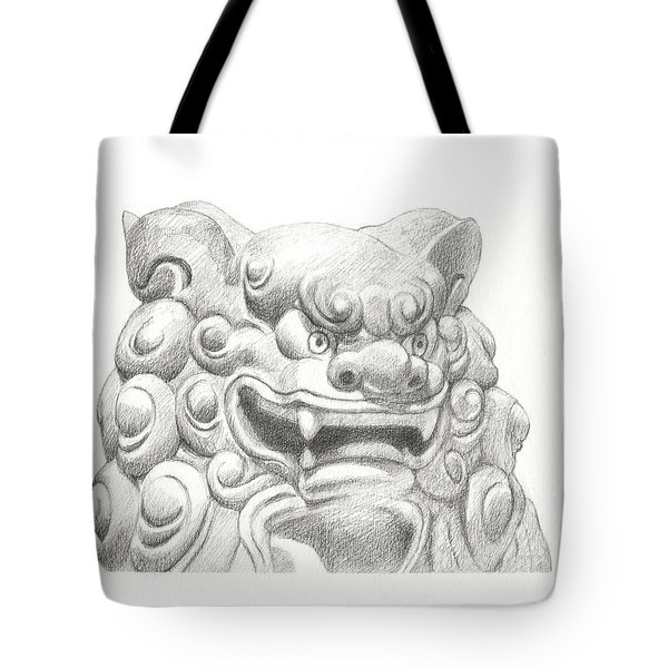 Guardian Lion Tote Bag by Kazumi Whitemoon