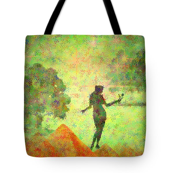 Guardian Of The Oasis Tote Bag by Joyce Dickens
