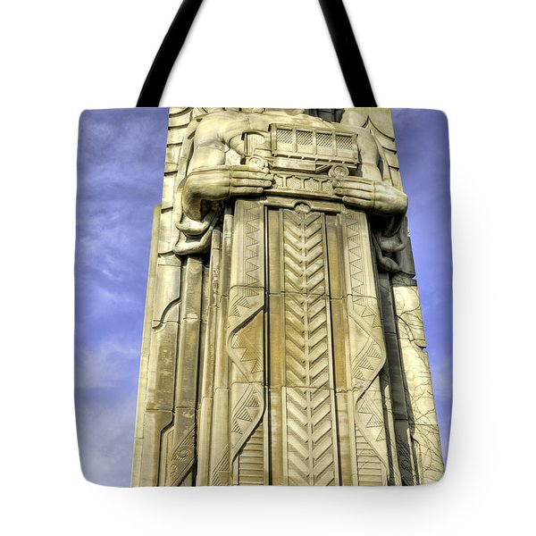 Guardian Of Traffic - 5 Tote Bag by David Bearden