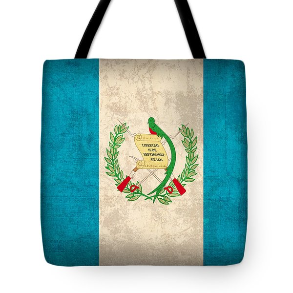 Guatemala Flag Vintage Distressed Finish Tote Bag by Design Turnpike