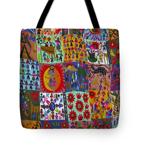 Guatemala Folk Art Quilt Tote Bag