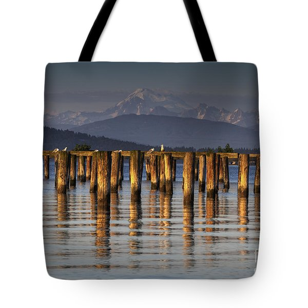 Guemes Channel Trail View Tote Bag