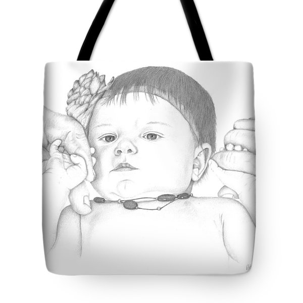 Tote Bag featuring the drawing Guiding Hands by Patricia Hiltz