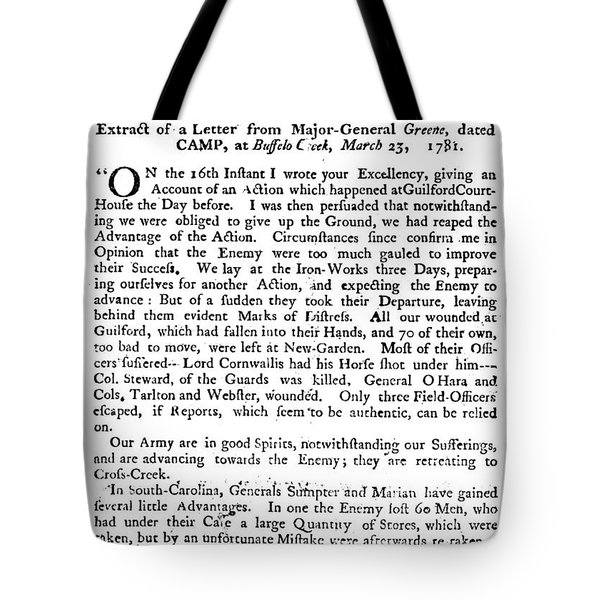 Guilford Court House, 1781 Tote Bag by Granger