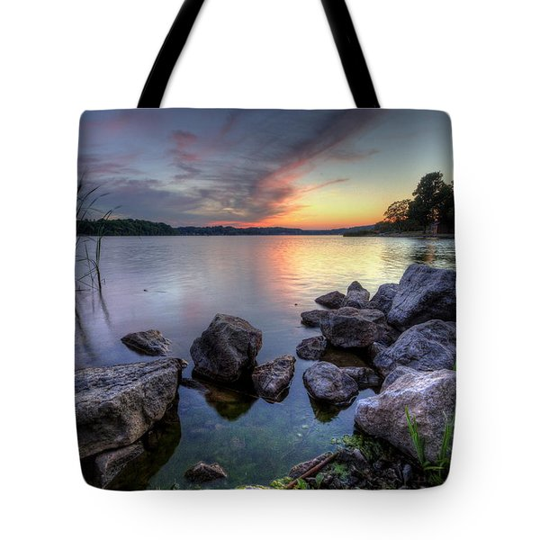 Guilford Lake Sunset Tote Bag