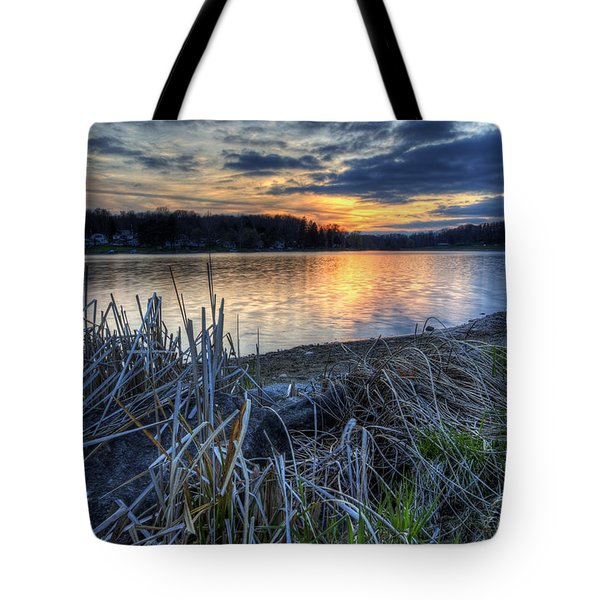 Guilford Lake Sunset Ohio Tote Bag